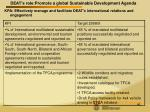 deat s role promote a global sustainable development agenda