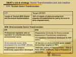 deat s role strategy sector transformation and job creation