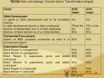 tecsa role and strategy tourism sector transformation targets