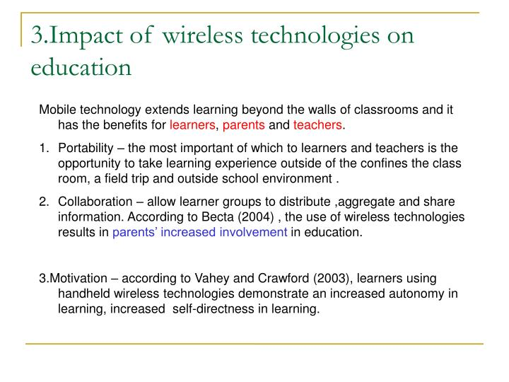 3.Impact of wireless technologies on education