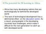 4 the potential for m learning in africa