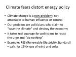 climate fears distort energy policy