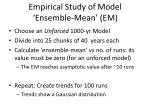 empirical study of model ensemble mean em