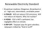 renewable electricity standard