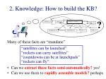 2 knowledge how to build the kb