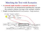 matching the text with scenarios