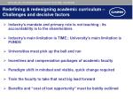 redefining redesigning academic curriculum challenges and decisive factors