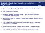 redefining redesigning academic curriculum way forward