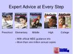 expert advice at every step