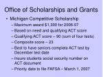 office of scholarships and grants2