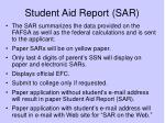 student aid report sar