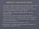 sindrum ii experimental method