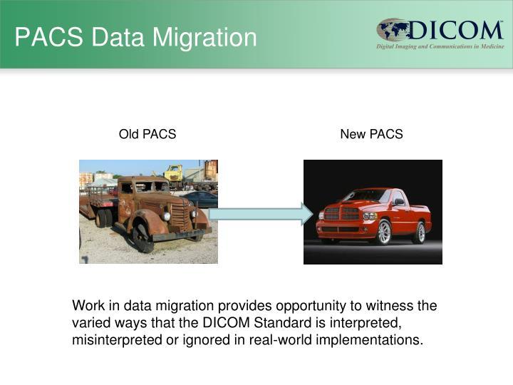 Pacs data migration