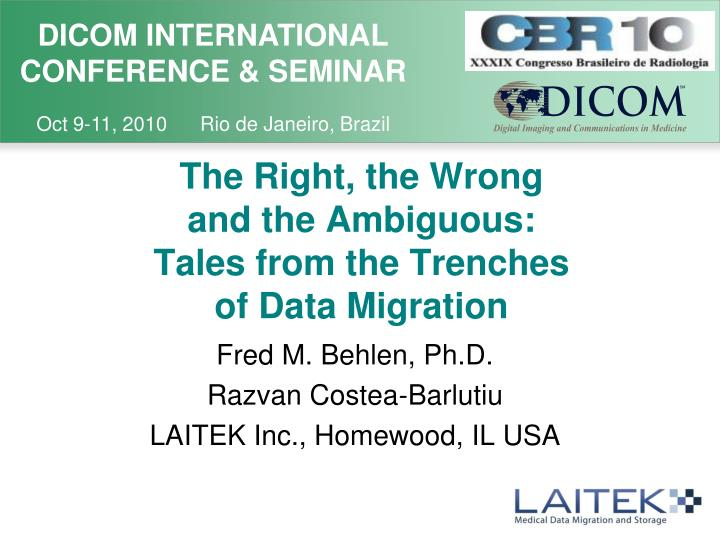 the right the wrong and the ambiguous tales from the trenches of data migration n.