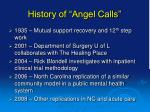 history of angel calls