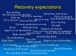 recovery expectations