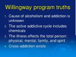 willingway program truths