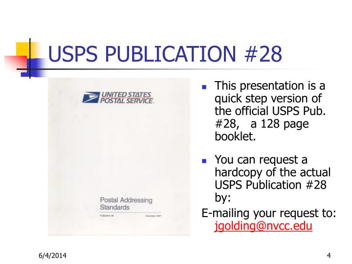 USPS PUBLICATION 28 DOWNLOAD