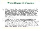worst boards of directors