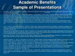 academic benefits sample of presentations