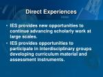direct experiences3