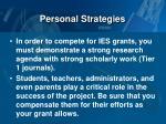 personal strategies1
