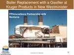 boiler replacement with a gasifier at kruger products in new westminister