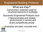 engineered building products