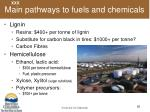 main pathways to fuels and chemicals