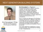 next generation building systems