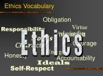 ethics vocabulary