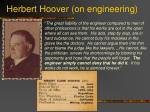 herbert hoover on engineering