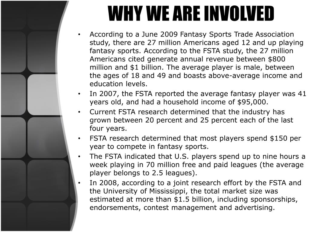 WHY WE ARE INVOLVED