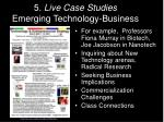 5 live case studies emerging technology business