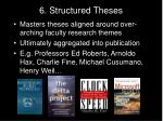 6 structured theses