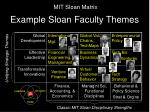 example sloan faculty themes