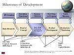 milestones of development
