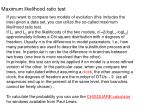 maximum likelihood ratio test