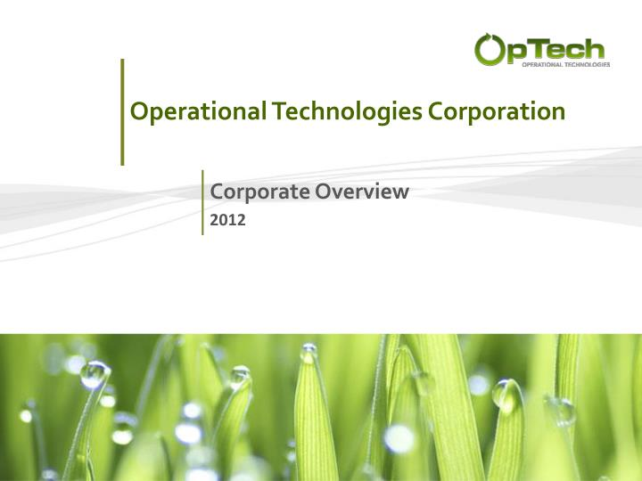 operational technologies corporation n.