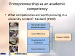 entrepreneurship as an academic competency1