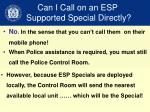 can i call on an esp supported special directly