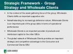 strategic framework group strategy and wholesale clients