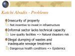 katchi abadis problems