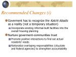 recommended changes i