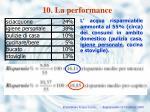 10 la performance