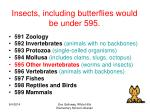 insects including butterflies would be under 595