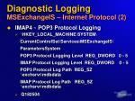 diagnostic logging msexchangeis internet protocol 2
