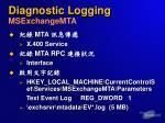 diagnostic logging msexchangemta