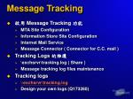 message tracking