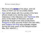 seven extant plays